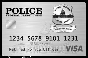 police fcu honor retired police officer visa card
